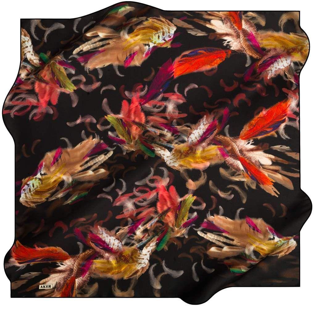 """Black Feather Scarf Women/'s Twill Fashion Print Headscarf Shawl Hijab 39/""""*39/"""""""