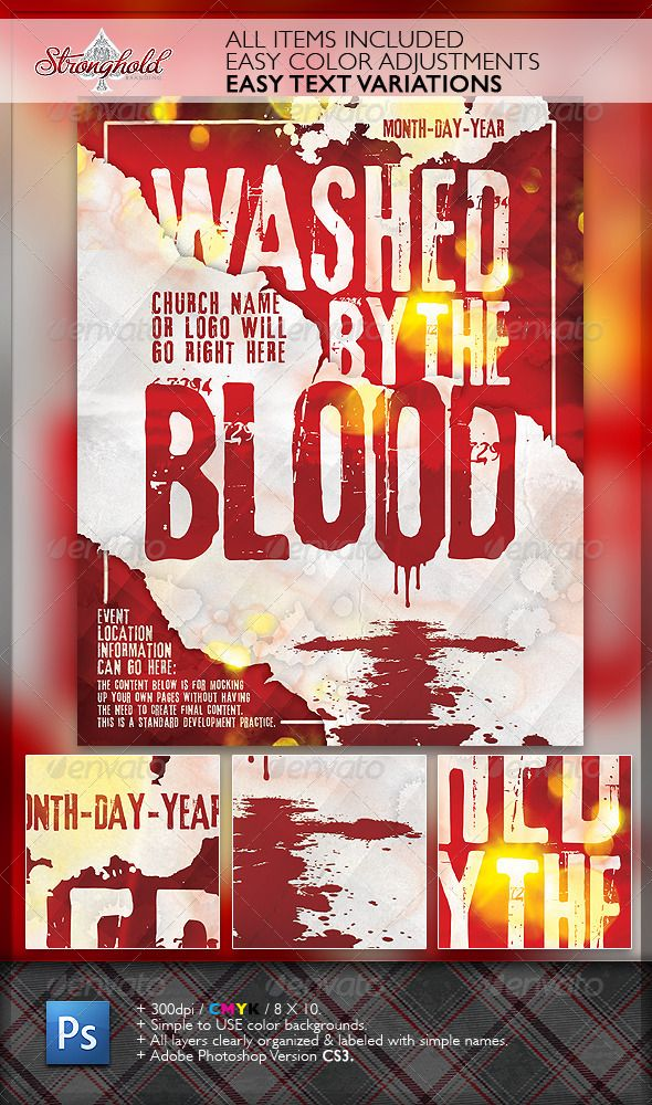 Washed By The Blood Church Flyer Graphic Design Pinterest - christian flyer templates