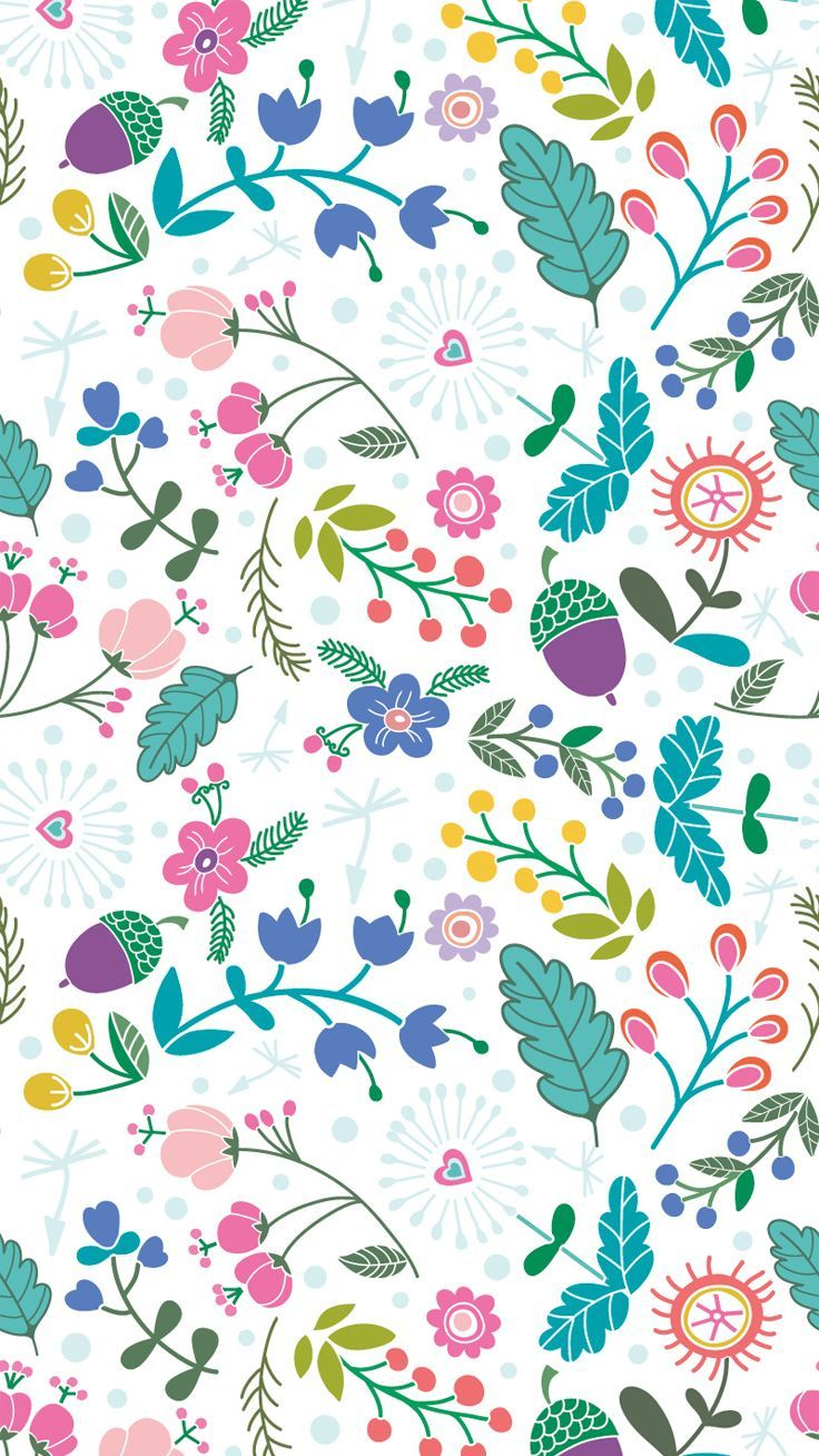 Spring Pattern Download More Floral IPhone Wallpapers At Prettywallpaper