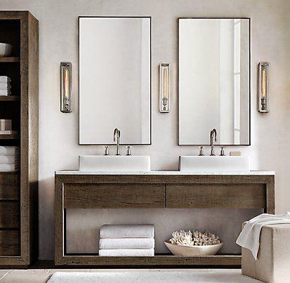 Reclaimed Russian Oak Vessel Washstand Bath Collection - Brown ...