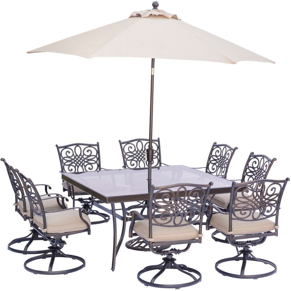Hanover traditions pc dining set swvl chrs