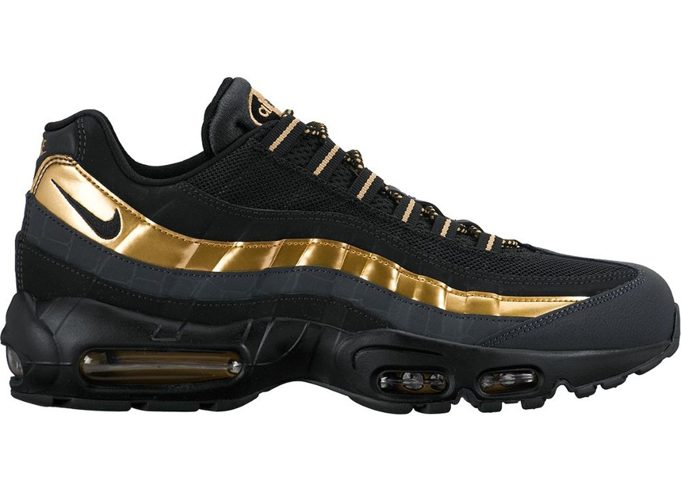 Nike Air Max 95 Black Metallic Gold Anthracite 38416007 Nike