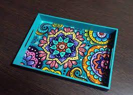 e9fae607a591 Resultado de imagen para bandejas pintadas a mano | bandejas ...