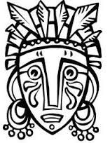 image result for african masks templates to colour