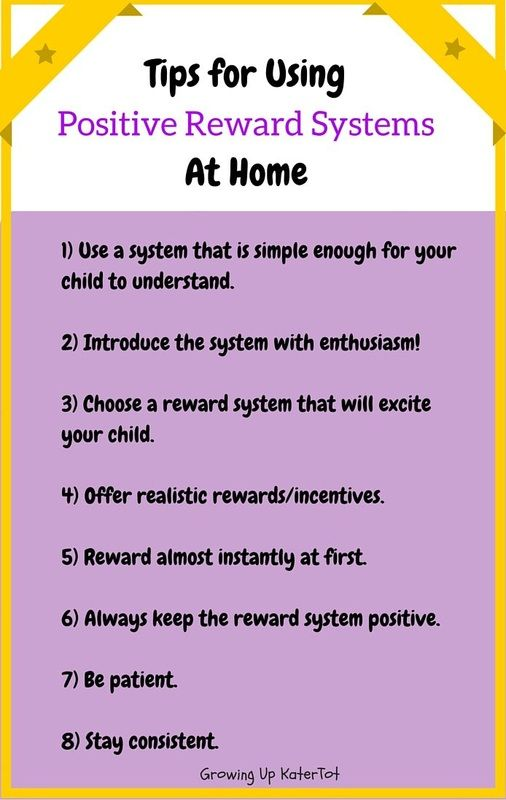 Tips For Using Positive Reward Systems At Home Reinforcement Kids Behavior Chart