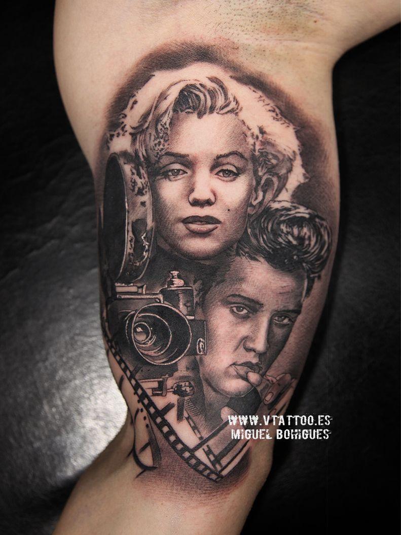 Marilyn y elvis presley v tattoo copia tattoos for Elvis presley tattoos