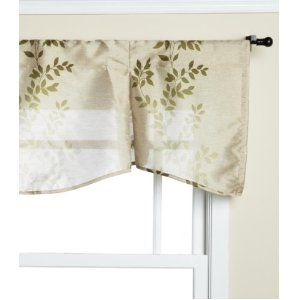 I love these sage valences!  They match my pattern at home!  :)  $9.99 @ Amazon