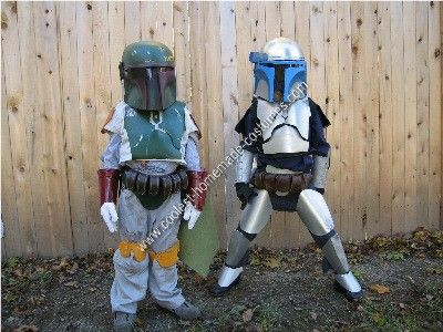 Homemade Boba and Jango Fett Couple Costume Idea My sons are Star Wars fanatics! When they said they wanted to be Boba and Jango I looked at the ... & Coolest Homemade Boba and Jango Fett Couple Costume Idea | Jango ...