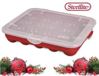 Christmas Decorations 4-Pk Sterilite Plastic 20 Christmas Ornament