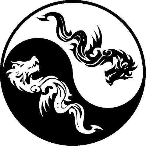 Blue Dragon Ying Yang Stock Photo & Stock Images | Bigstock ...