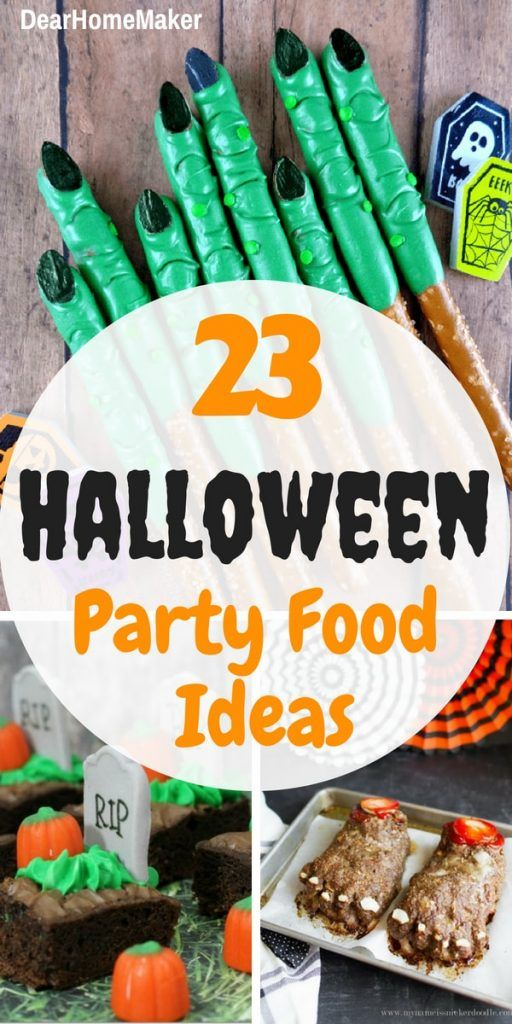 23 Easy and Scary Halloween Party Food Ideas | Dear Home Maker