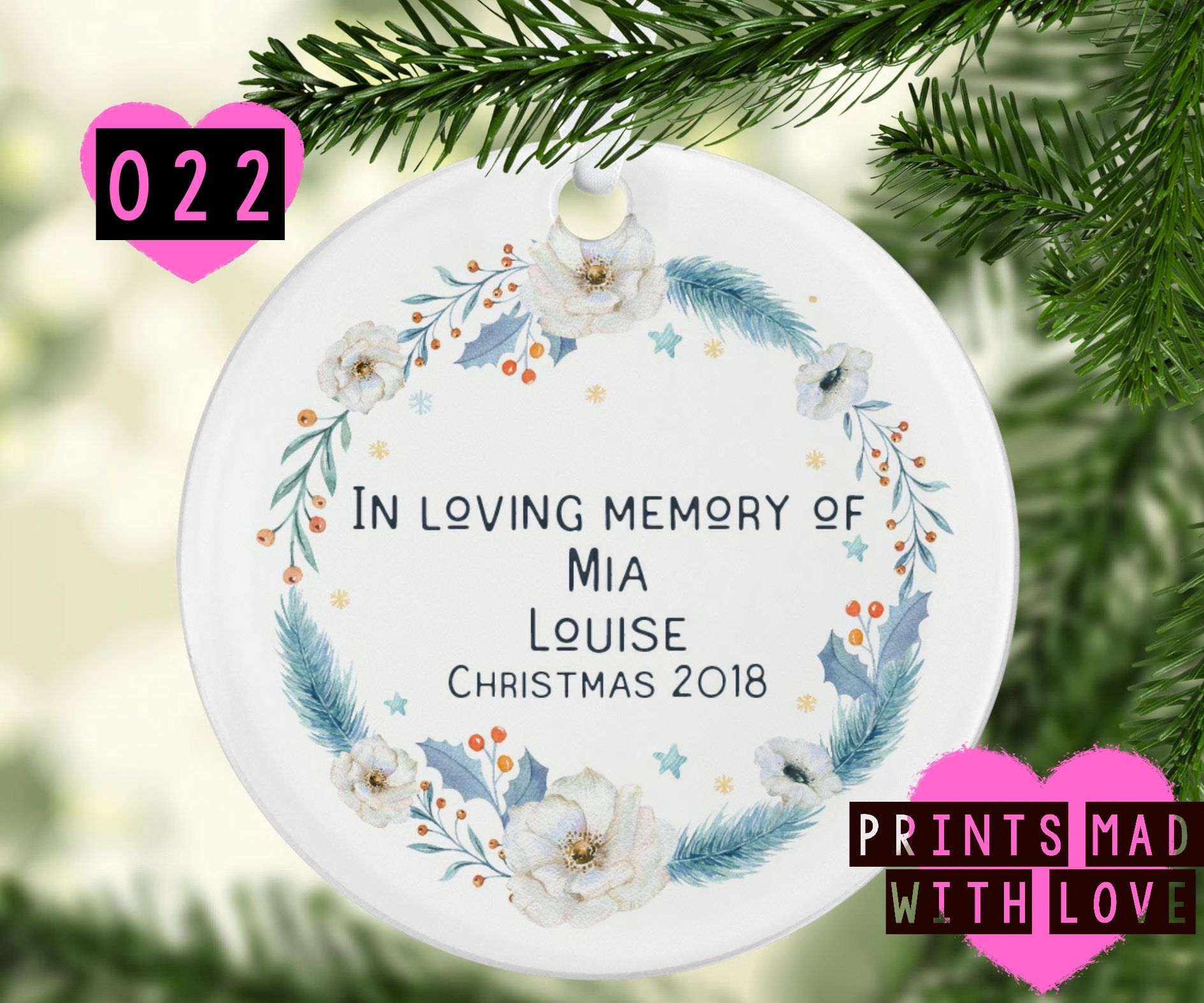In loving memory Christmas decoration / Christmas in heaven / Bauble ...