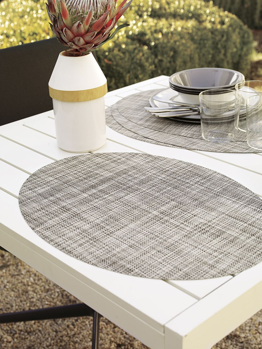 Chilewich Mini Basketweave Oval Placemats Design Within Reach Modern Tableware Placemats Chilewich