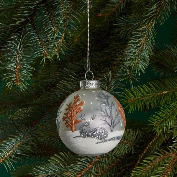 Decorating Glass Ball Ornaments Bloomingdale's Glass Winter Scene Ball Ornament  100% Exclusive
