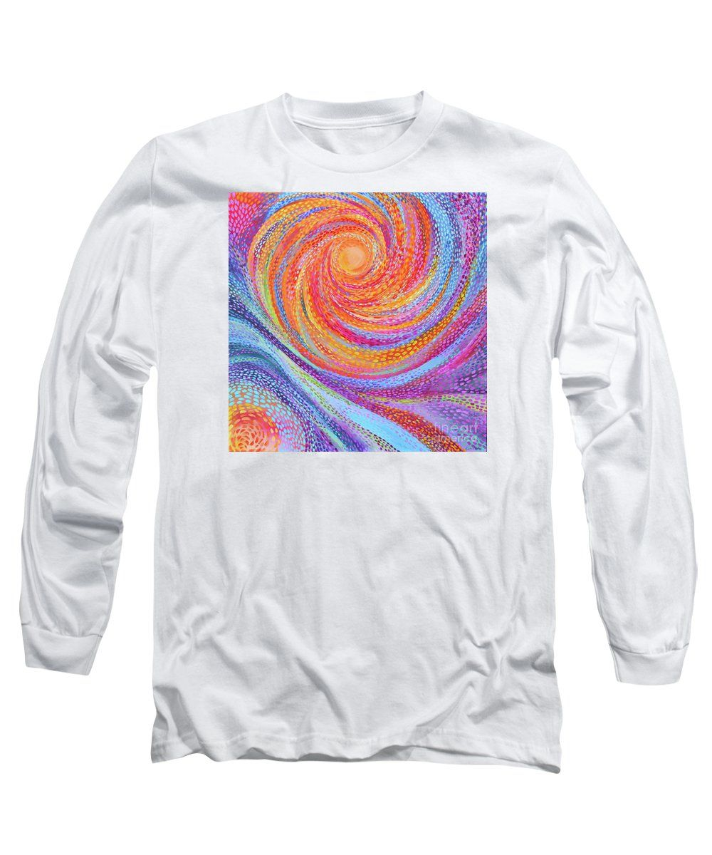 Original Painting.pointillist Long Sleeve T-Shirt featuring the painting Solemenations by Expressionistartstudio Priscilla-Batzell