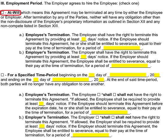 Employment Contract Templates W 2 And 1099 Agreements Eforms Free Fillable Forms Contract Template Employment Employee Handbook