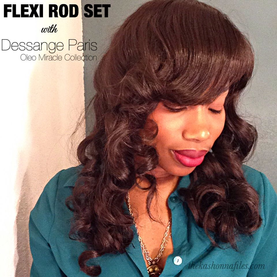 Now on youtube flexi rod set using dessange paris hair products