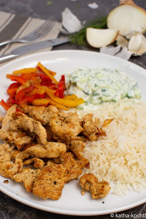 Putengyros mit Reis und Tsatziki - Katha-kocht!