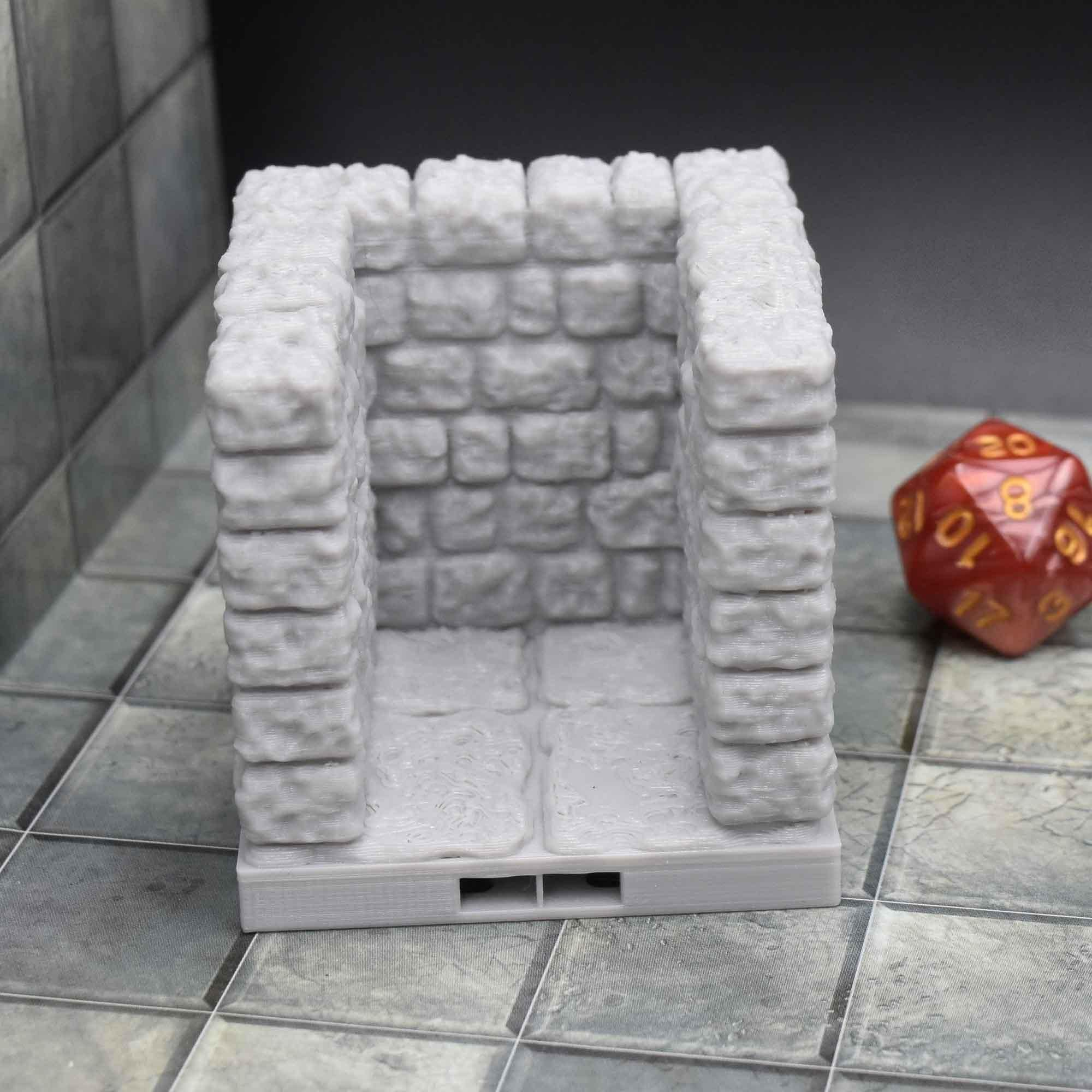image regarding 3d Printable Dungeon Tiles titled Alcove - Dungeon Tiles by means of Dragonlock™ Our Solutions inside of 2019