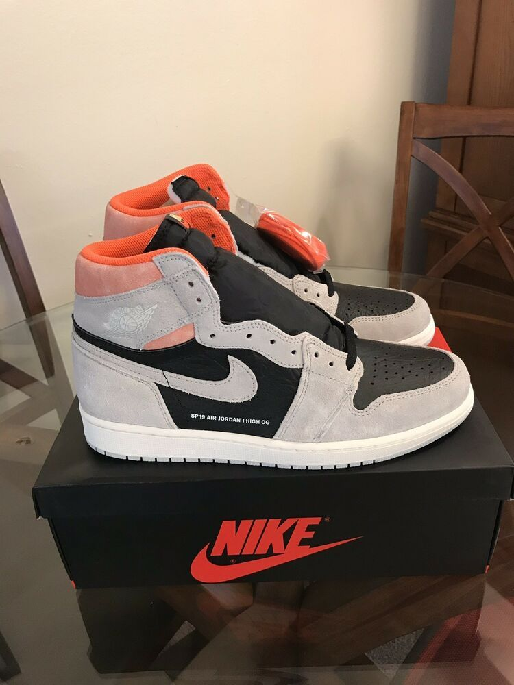 b83ec5d6c2f4b8 Nike Air Jordan 1 Retro High OG Neutral Grey Hyper Crimson Size 12  fashion   clothing  shoes  accessories  mensshoes  athleticshoes (ebay link)
