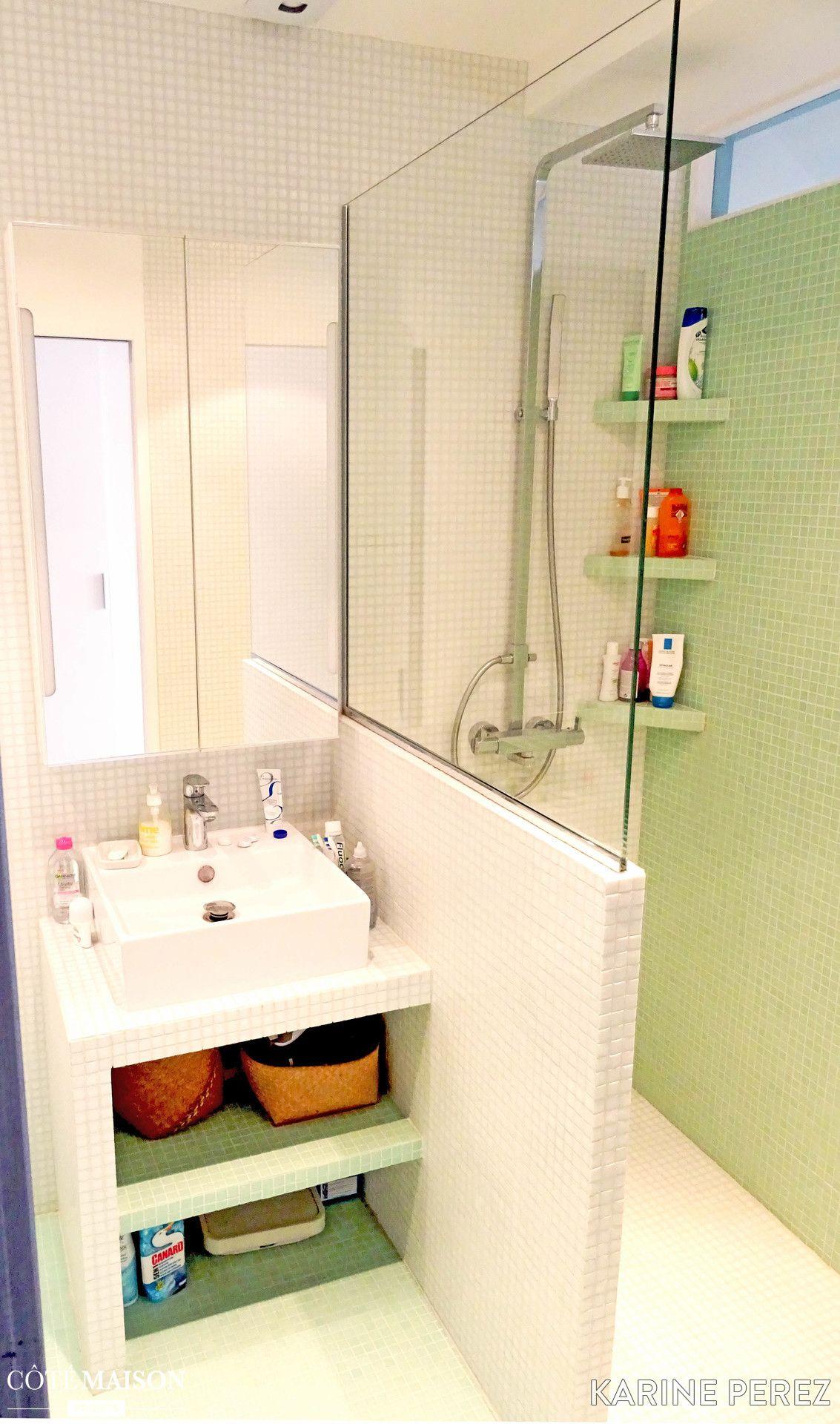 Salle De Bain Petit Espace Plan ~ appartement sous les combles karine perez c t maison projets