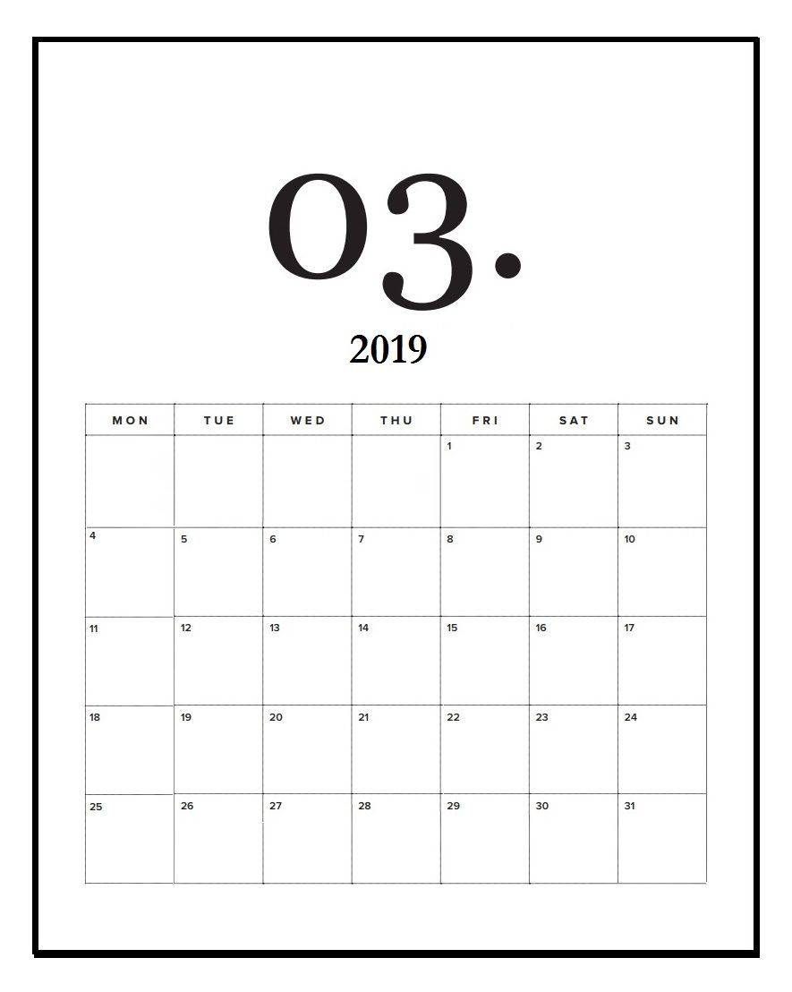 March 2020 Desk And Wall Calendar Wall Calendar Design Wall