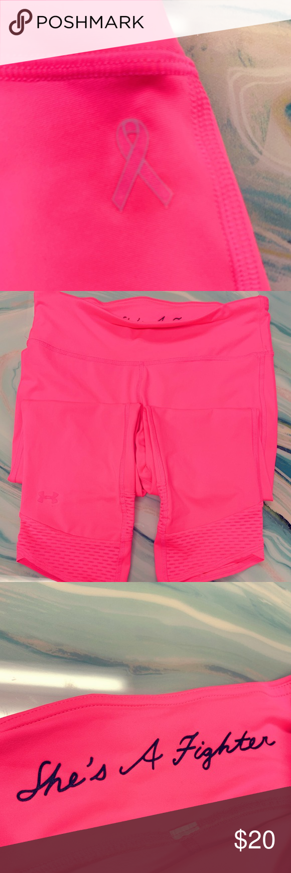 Under armour hot pink breast cancer aware crops m in my posh