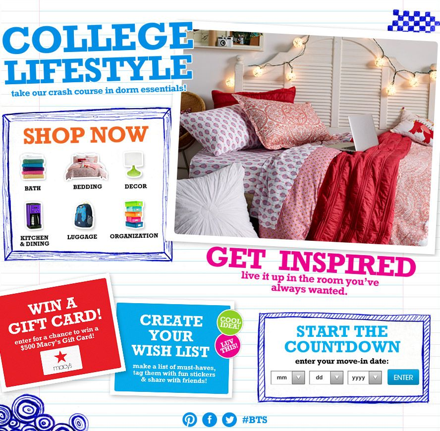 College stuff to buy