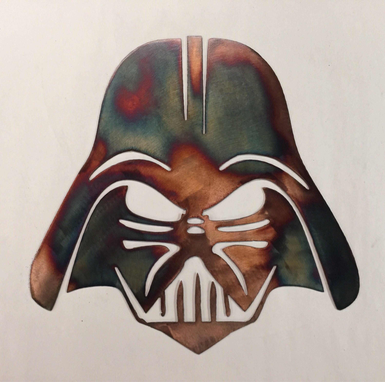 Star Wars Metal Wall Art Darth Vader Decor Sign Symbol Etsy Star Wars Wall Art Metal Wall Art Darth Vader Decorations