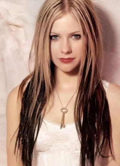 Avril Lavigne Ombre Effect Hairstyle Casual Everyday Party Long Hair Styles Punk Hair Hair Styles