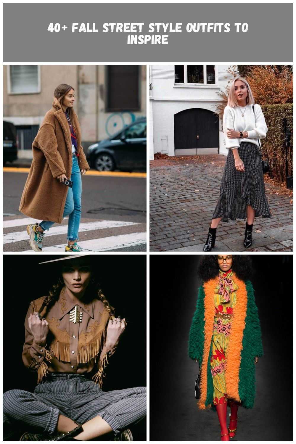 Fall street style fashion  fashion week Pinterest fromluxewithlove Fall fashion Editorial 40 Fall Street Style Outfits to Inspire