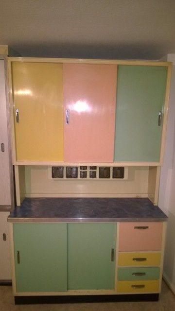 Küchenschrank, 60erJahreStil vintage photographs