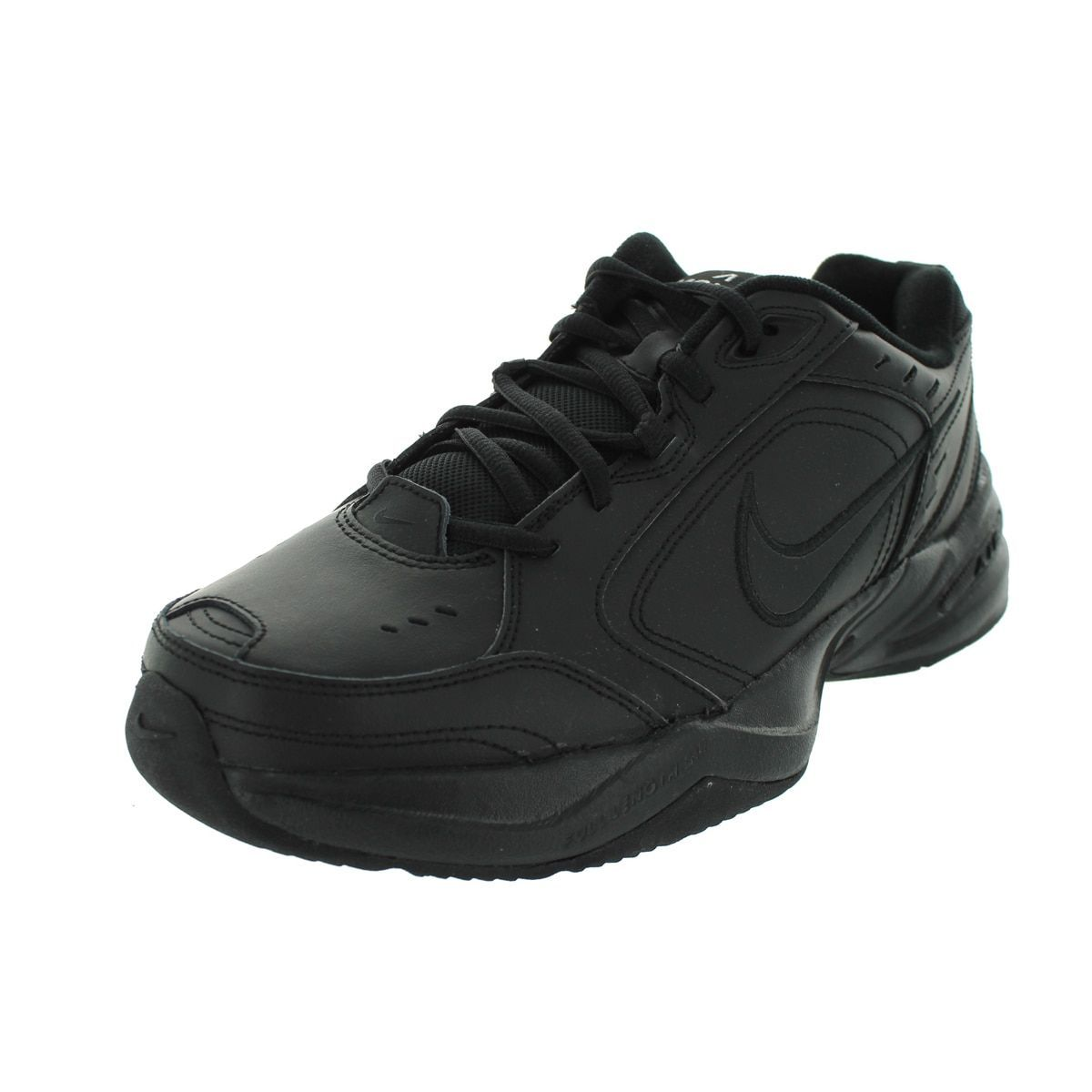 Nike Mens Air Monarch Iv Running Shoes, Black, 10 M Us Leather overlays for  durability and support Full-length Phylon midsole for lightweight  cushioning ...