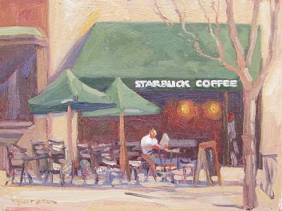 Dianne Miller - Starbucks- Oil - Painting entry - May 2012   BoldBrush Painting Competition