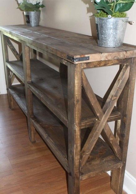 This Rustic Foyer Table Is A Lovely Addition To Any Entryway