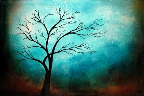 Easy Acrylic Painting Ideas Trees | Easy Tree Paintings Simple ...