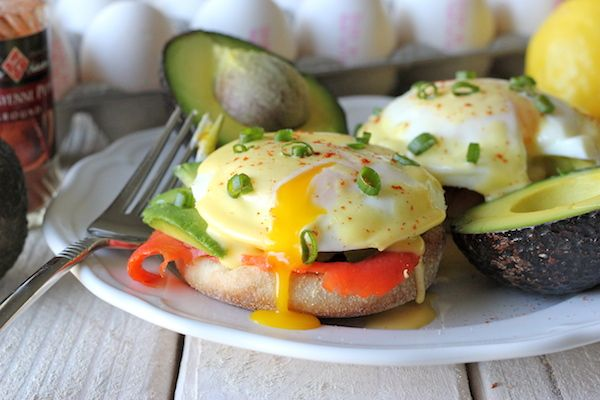 Smoked Salmon Eggs Benedict - Damn Delicious really good and easy,  nice dinner for a change of pace.
