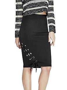 7e93b4e88 Pia Lace-Up Midi Skirt | GUESS.com | Charlotte McKinney | Skirts ...
