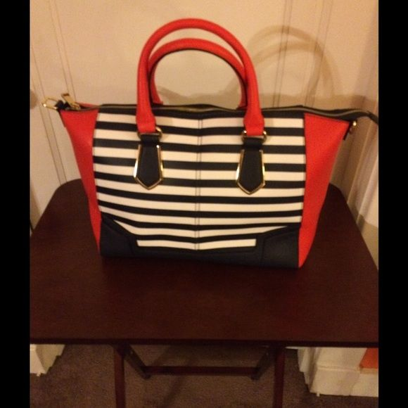cfd7a52c8c Aldo navy   white striped purse
