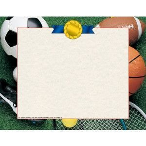 Athletic Border Contains An Assortment Of Sports Equipment Including