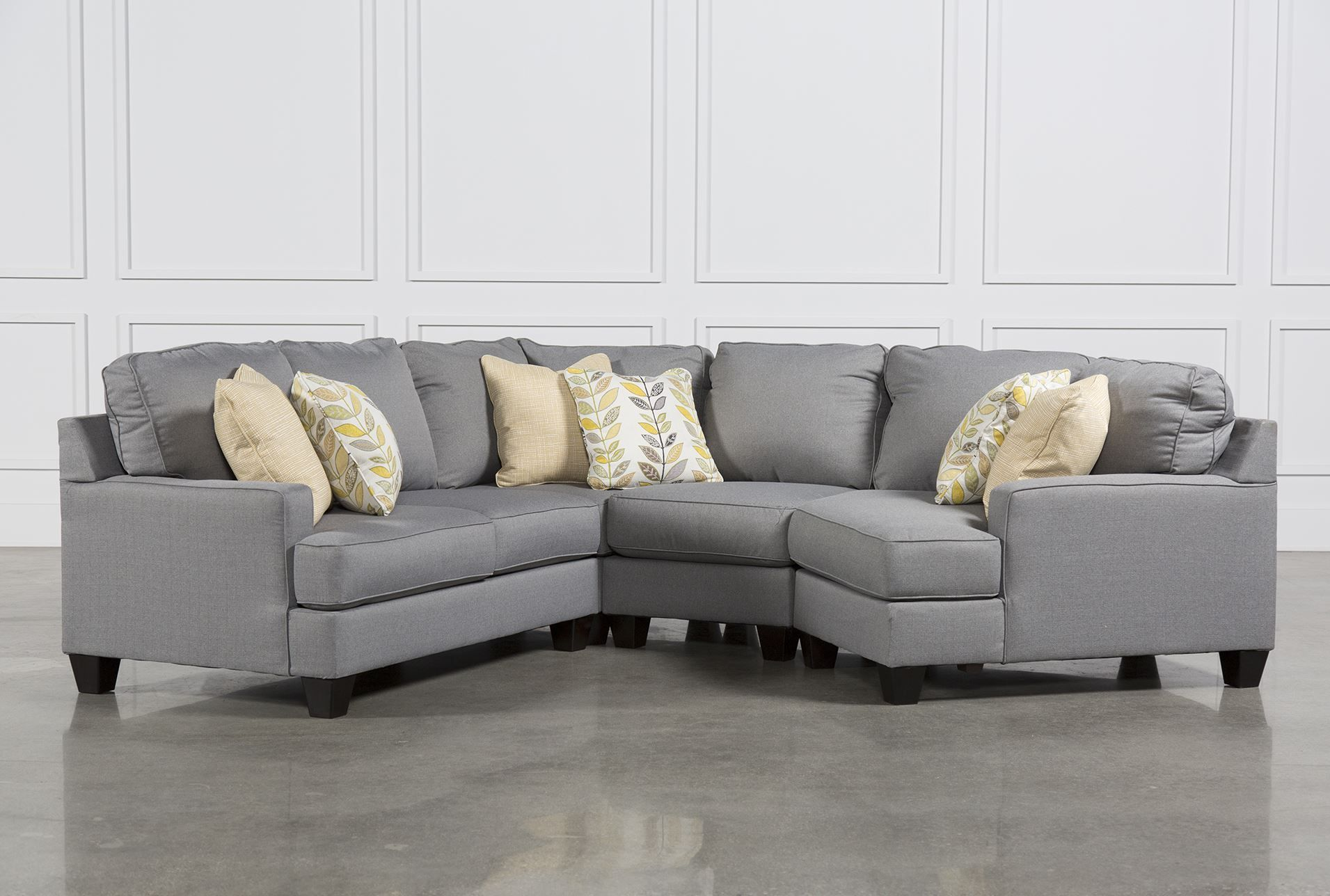 Chamberly 4 Piece Sectional W Raf Cuddler Sectional Sofa With Chaise Sectional Sofa Blue And White Living Room