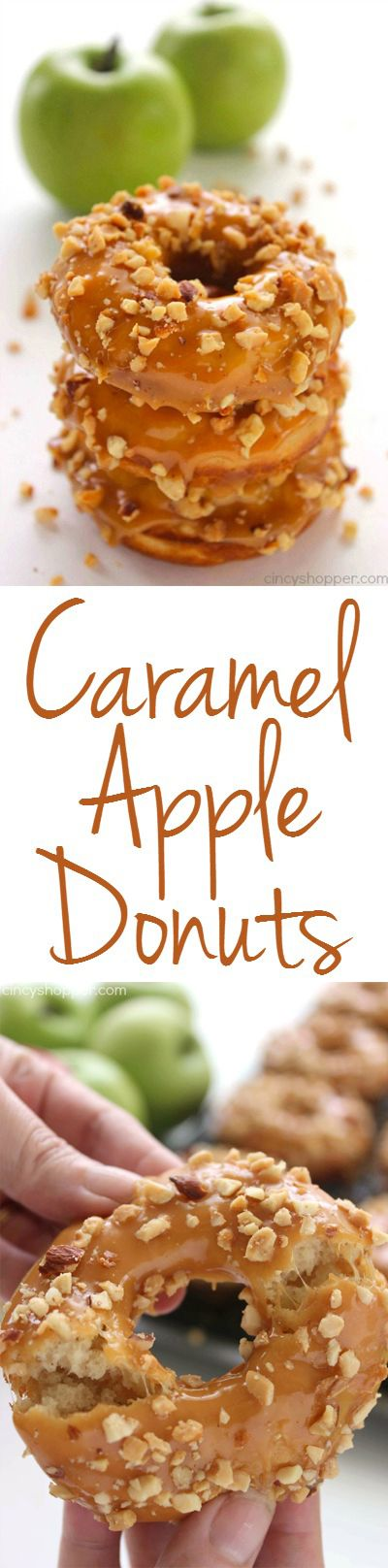 Caramel Apple Donuts Caramel Apple Donuts - Easy and delish donut idea for fall. Great for breakfast or dessert.