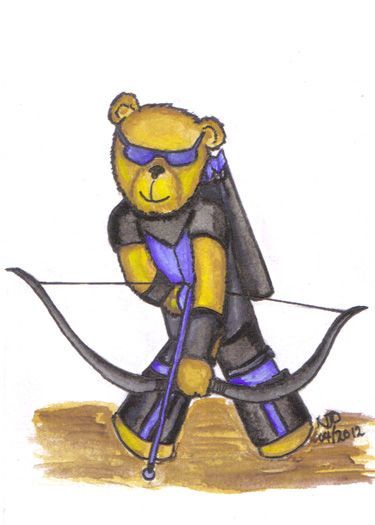 Master Archer Hawkeye joins the Cuddly Avengers