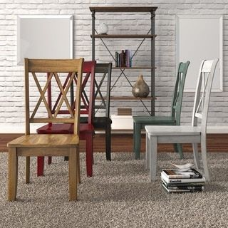 Shop For Eleanor Double X Back Wood Dining Chair Set Of 2 By TRIBECCA