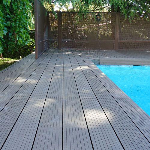 Baldosas de exterior en madera para crear un suelo nico tarima sint ticas para exterior - Baldosas para exterior ...