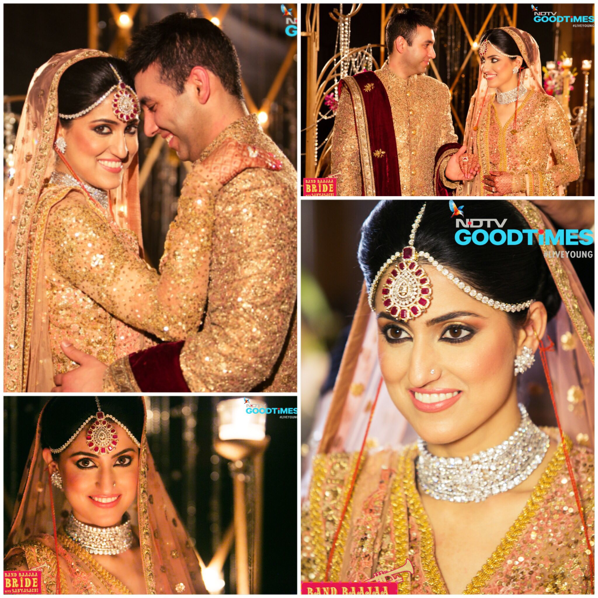 bands glowing into pin band harveen turns a bride punjabi baaja