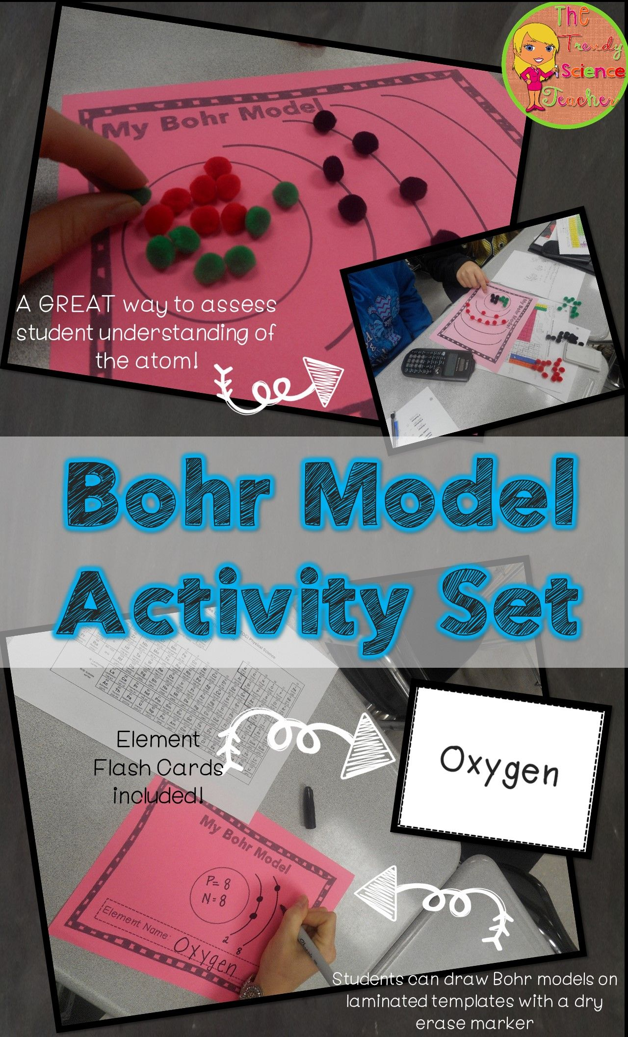 Bohr model activity set kinesthetic learning knowledge and activities need an engaging way to teachreinforce bohr models to your middle school students urtaz Gallery