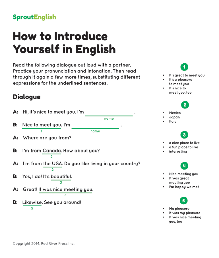 how to introduce yourself