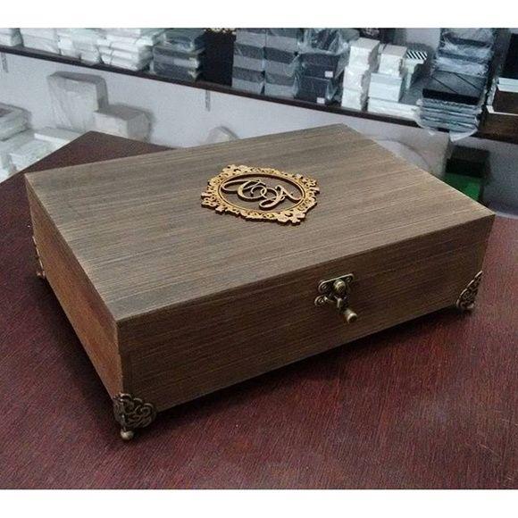 Caixa Rustica Personalizada Com Imagens Caixa De Madeira Com