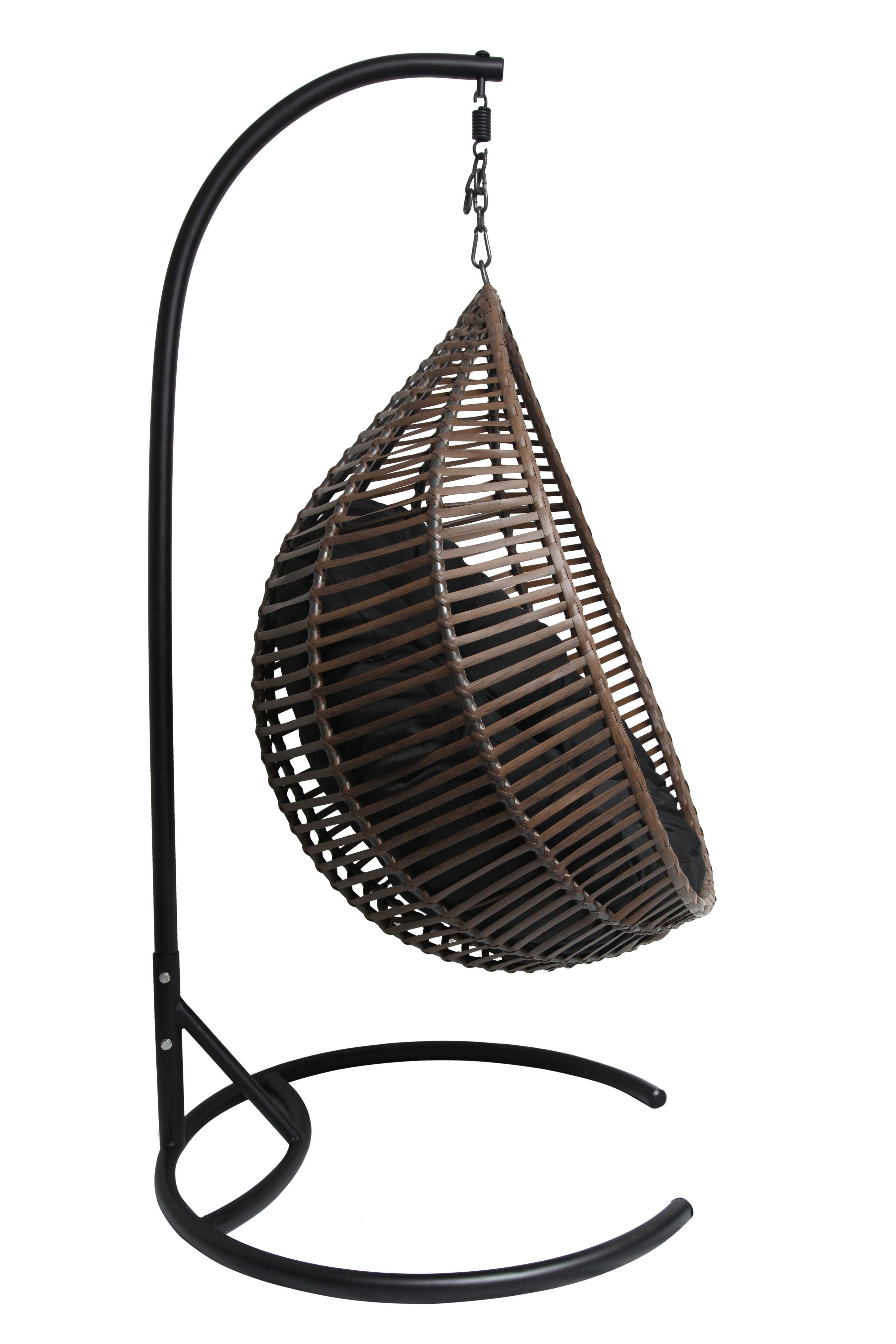Hangstoel Bruin Egg.This Stunning Gumnut Hanging Egg Chair Is Made To The Highest